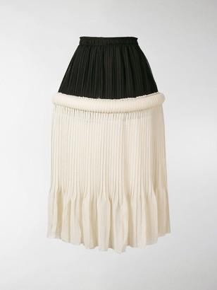 J.W.Anderson Drop-Waist Pleat Skirt