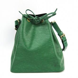 Louis Vuitton NoA Green Leather Handbags