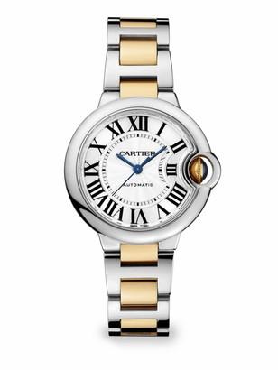 Cartier Ballon Bleu de 18K Yellow Gold & Stainless Steel Bracelet Watch/33MM