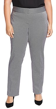 Vince Camuto Plus Herringbone Straight Pants