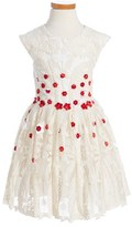 Halabaloo Girl's Embroidered Flower Dress