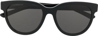 Balenciaga Eyewear Soft Round-Frame Sunglasses