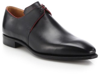 Corthay Arca Pullman French Calf Leather Piped Derby Shoes