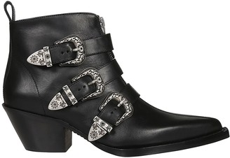 R 13 Three Buckle Biker Boots