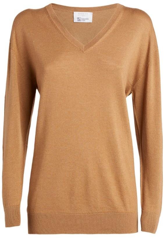 Harrods Cashmere-Silk V-Neck Sweater
