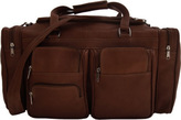 """Piel Leather 20"""" Duffel Bag With Pockets 7720"""