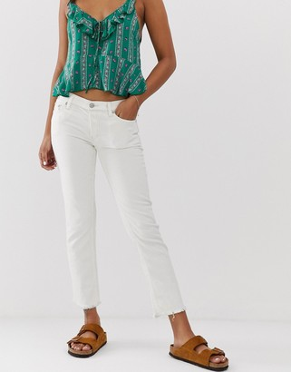 Free People Austen straight cut jeans-White