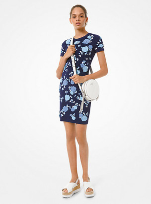 Michael Kors Floral Sequined Stretch Viscose Dress