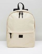 Asos Backpack In Stone Yellow