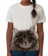 BANG TIDY CLOTHING Kids Graphic Tee Youth T Shirt Cat in Snow Clothes for Girls
