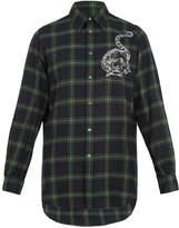 Stella McCartney Mythical motif-print checked wool shirt