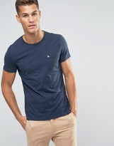 Jack Wills T-shirt With Pocket In Slim Fit In Navy Nep