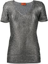 Missoni metallic knitted top