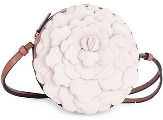 Valentino Atelier Rose Leather Round Crossbody Bag