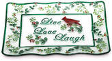 Pfaltzgraff Winterberry Live Laugh Love Platter, Created for Macy's