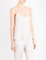 I.D. Sarrieri V-neck silk-blend and lace camisole