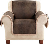 Sure Fit Vintage Faux-Leather Reversible Pet-Friendly Chair Slipcover