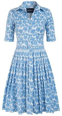 Samantha Sung Audrey Rose-Printed Belted Shirtdress