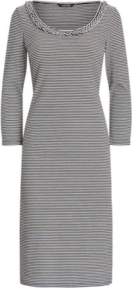 Ralph Lauren Striped Stretch Cotton Dress