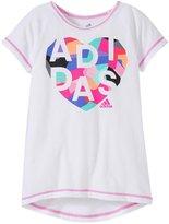 adidas Drop Tail Raglan (Toddler/Kid) - White - 4