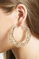 Forever 21 FOREVER 21+ Bow Accent Hoop Earrings