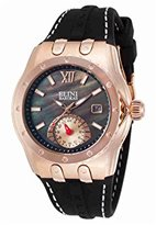 Elini Barokas Women's 'Genesis Vision' Swiss Quartz Stainless Steel and Silicone Watch, Color:Black (Model: 20029-RG-01)