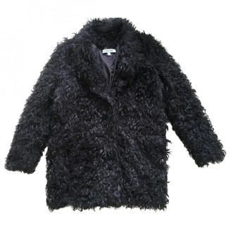 Elizabeth and James Black Faux fur Coats