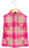 Oscar de la Renta Girls' Wool Plaid Vest