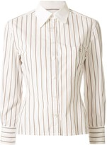 Chanel Pre Owned striped slim-fit shirt