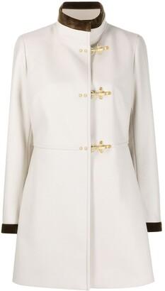 Fay Fur Contrasting Details Coat