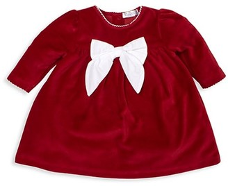 Kissy Kissy Baby Girl's Here Comes Santa Claus Velour Dress