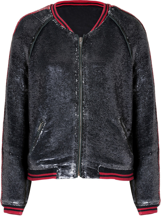 IRO Red/Black Sequined Jacket
