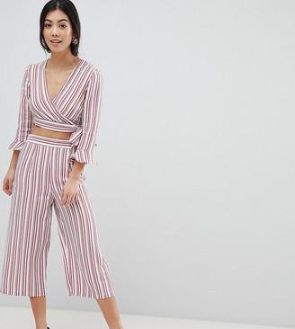 Miss Selfridge Petite Stripe Culotte Cropped Pants