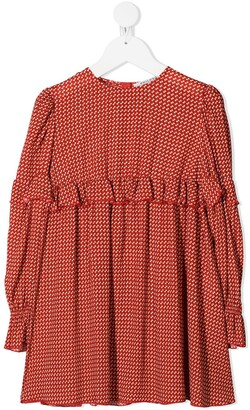 Philosophy Di Lorenzo Serafini Kids TEEN patterned dress