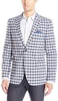 Ben Sherman Men's Two Button Check Plaid Blazer