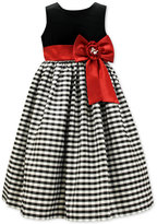 Jayne Copeland Velvet Check Dress, Big Girls (7-16)