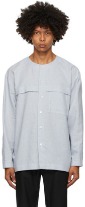 Homme Plissé Issey Miyake Grey Linen and Cotton Shirt