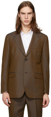 Cobra S.C. Brown Wool Peaked Lapel Blazer