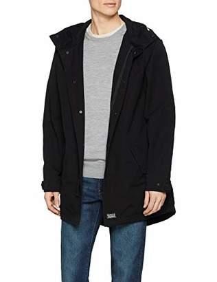 Levi's Men's Lined Fishtail Parka Coat, (Black 0001)