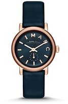 Marc by Marc Jacobs Baker Navy Dial Navy Leather Ladies Watch MBM1331