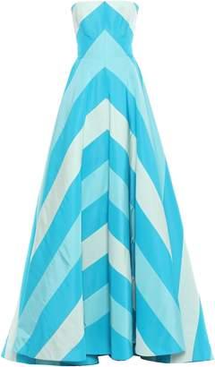 Carolina Herrera Cutout Printed Silk-faille Gown