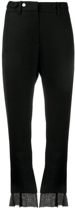 Ann Demeulemeester Double-Hem Cropped Trousers