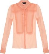 Rochas Silk-organza ruffle-trimmed shirt