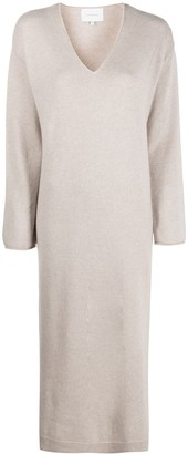 LA COLLECTION V-neck knitted dress
