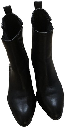 Alexander Wang Black Leather Ankle boots