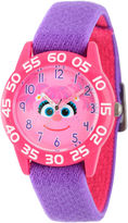 Sesame Street Girls Pink And Purple Abby Cadabby Time Teacher Strap Watch W003157