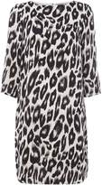 Vero Moda Rowena 3/4 sleeve snow leopard print dress