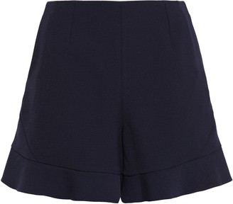 Maje Fluted Stretch-crepe Shorts