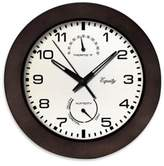 La Crosse Technology Thermometer/Hygrometer Wall Clock in Brown