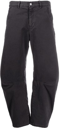 Nili Lotan Emerson arched cropped trousers